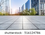 empty floor with modern... | Shutterstock . vector #516124786