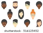 set of people of various... | Shutterstock .eps vector #516125452
