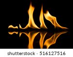 fire flames on black background | Shutterstock . vector #516127516