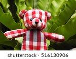 Red Plaid Teddy Bear Sitting O...