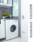washing machine in a kitchen... | Shutterstock . vector #516131098