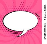 cartoon  comic speech bubble in ... | Shutterstock .eps vector #516135886