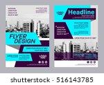 modern brochure layout design... | Shutterstock .eps vector #516143785