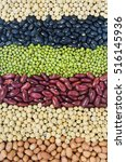 a group of natural grains put... | Shutterstock . vector #516145936