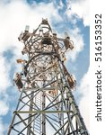 hdr communications tower... | Shutterstock . vector #516153352