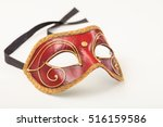 Carnival Mask Isolated On Whit...