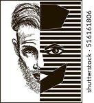 fashionable guy. vector... | Shutterstock .eps vector #516161806