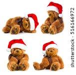 four toy teddy bear wearing a... | Shutterstock . vector #516166972