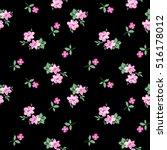 pretty ditsy flower print  ... | Shutterstock .eps vector #516178012