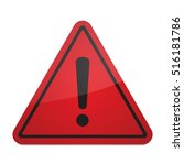 red exclamation danger sign | Shutterstock .eps vector #516181786