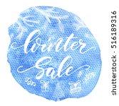 winter sale   hand drawn... | Shutterstock .eps vector #516189316