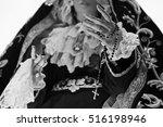saint in ancient church ... | Shutterstock . vector #516198946