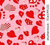 heart. valentine's day.... | Shutterstock .eps vector #516199132