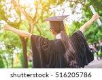 graduate woman students wearing ... | Shutterstock . vector #516205786