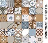 vintage tiles intricate details ... | Shutterstock .eps vector #516206146