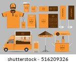 concept for coffee shop and... | Shutterstock .eps vector #516209326