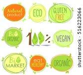vector colorful bio icon set of ... | Shutterstock .eps vector #516223066