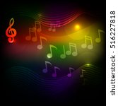 music notes background.  vector ... | Shutterstock .eps vector #516227818