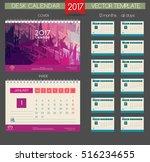 calendar 2017. printable... | Shutterstock .eps vector #516234655
