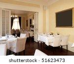 restaurant interior | Shutterstock . vector #51623473