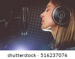 music passionate singer and the ... | Shutterstock . vector #516237076