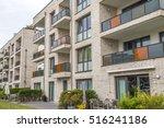 facade of a modern apartment... | Shutterstock . vector #516241186