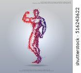 bodybuilder flex silhouette | Shutterstock .eps vector #516243622
