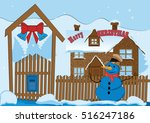 merry christmas and happy new... | Shutterstock .eps vector #516247186