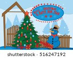merry christmas and happy new... | Shutterstock .eps vector #516247192
