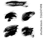 vector set of grunge brush... | Shutterstock .eps vector #516247498
