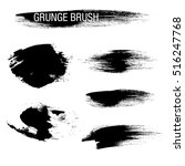 vector set of grunge brush... | Shutterstock .eps vector #516247768