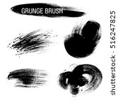 vector set of grunge brush... | Shutterstock .eps vector #516247825
