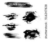 vector set of grunge brush... | Shutterstock .eps vector #516247828
