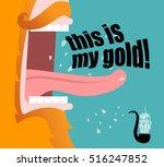 leprechaun shouts this is my... | Shutterstock .eps vector #516247852