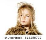 disheveled preschooler girl...   Shutterstock . vector #516255772