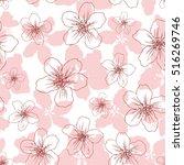 apple flower blossom hand drawn ... | Shutterstock .eps vector #516269746