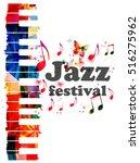 colorful piano keys vector... | Shutterstock .eps vector #516275962