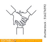team hands. outline sketch icon.   Shutterstock .eps vector #516276592