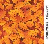 autumn oak leaves seamless... | Shutterstock .eps vector #51627844