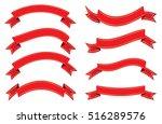 set of ribbons.vector ribbon... | Shutterstock .eps vector #516289576