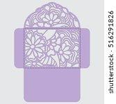 lasercut vector wedding... | Shutterstock .eps vector #516291826