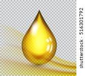 transparent drop of oil. vector ...   Shutterstock .eps vector #516301792