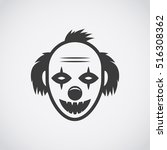 icon evil clown | Shutterstock .eps vector #516308362