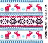 scandinavian style seamless ... | Shutterstock .eps vector #516316645