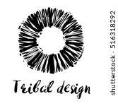 tribal design lettering and... | Shutterstock .eps vector #516318292