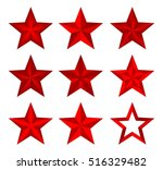 set red vector christmas... | Shutterstock .eps vector #516329482