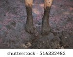Closeup View Of Dirty Bare Feet ...