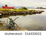 bay of water somewhere in kerry ... | Shutterstock . vector #516333022