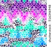 cool aztec geometric gradient... | Shutterstock . vector #516346948