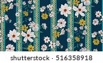 seamless floral pattern in... | Shutterstock .eps vector #516358918